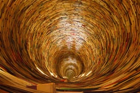 Whirlwind of Books - Photo by Petr Kratochvil